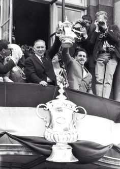 Bill Nicholson and Dave Mackay with the FA Cup
