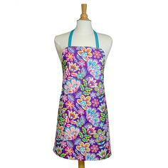 Are you ready for a party? This purple apron is! From the Fiesta line of fabrics, this purple floral print is sure to catch your eye and will be your favorite kitchen tool! Once you put it on, you might not want to take it off!  Personalization on your apron is included! Add a matching pot holder or two to complete the set! Leave the text to be embroidered, font choice (shown in the last listing photo) and color in the notes section when checking out. Without this information, your order…