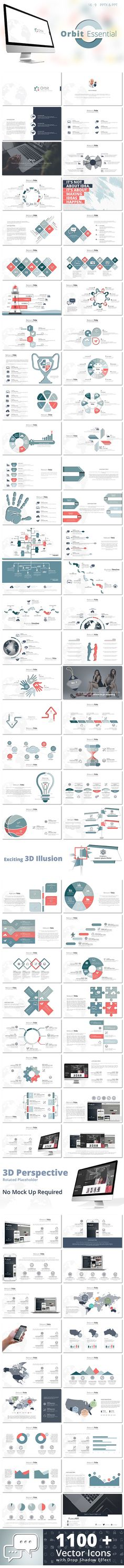 Orbit Essential PowerPoint Presentation Tempalte #design Download: http://graphicriver.net/item/orbit-essential-powerpoint-presentation/11767528?ref=ksioks