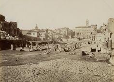 Roma, Arco di Constantino Vintage albumen print Tirage albuminé 21x27 Circa 1875
