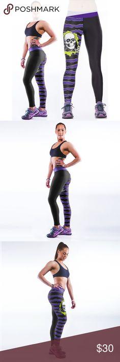 Yoga Gym Sport Leggings High Waist 3D Printed Skull Fitness Yoga Gym Sport Leggings Pants Leggings