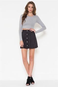 Microsuede Mini Skirt (more colors)