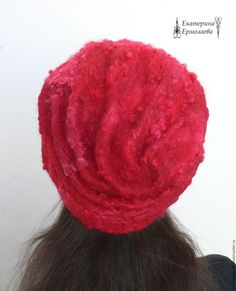 """Купить Валяная женская шапка """"Ягодный морс"""" - валяная шляпка, шапка валяная, оригинальный аксессуар"""