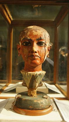 Head of Tutankhamun,New Kingdom,Dynasty 18,c.a. 1336–1327 B.C.