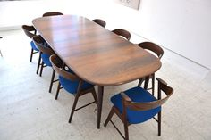 set of 8 rosewood chairs by Kai Kristiansen for KORUP stolefabrik. £4000