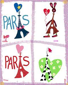 Dessins tour Eiffel Paris par Marie-Pierre Denizot