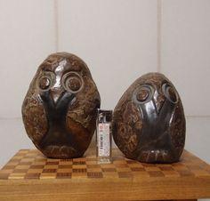 鉄丸石初めいろいろな石で作ったフクロウです。興味のある方、ご連絡下さい。|ハンドメイド、手作り、手仕事品の通販・販売・購入ならCreema。