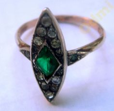 Ring Art Deco silver gold Antique Germany