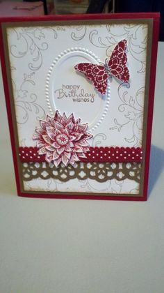 Stampin' It Up with Olivia: Creative Elements Birthday Card by JoAnnV