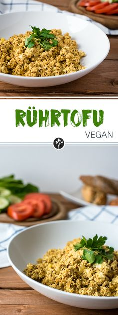 Rührtofu aus nur 5 Zutaten! Jetzt auf www.eat-vegan.de #vegan & #healthy