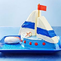 Sailboat Cake From Better Homes and Gardens, ideas and improvement projects for your home and garden plus recipes and entertaining ideas.