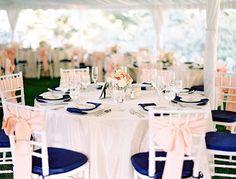 Blush Navy Gold Wedding Color Palette Table