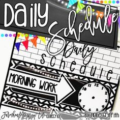 These schedule posters are filled with black and white tiles, galvanized metal, chalkboards, string lights, lanterns, and a little NEON twist. They go perfectly with any farmhouse classroom decor. There is an editable PowerPoint file to customize the schedule to fit your needs!
