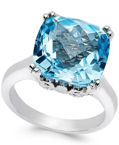 Rosamaria G Frangini | High Blue Jewellery | Sky Blue Topaz Cocktail Ring in Sterling Silver (10 ct. t.w.)
