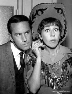 Don Adams and Carol Burnett