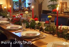 Tischdeko Weihnachten Table Settings, Xmas, Christmas Time, Dekoration, Place Settings, Tablescapes