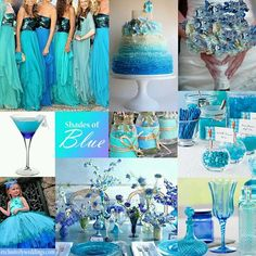 shades of blue wedding