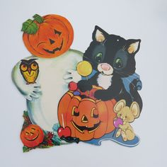 vintage halloween cutout paper decorations set by shabbyshopgirls 800 - Halloween Cutout Decorations