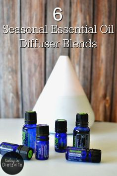6 Seasonal Essential Oil Diffuser Blends | Essential oils not only make my air smell fresh and clean -- they actually freshen and clean the air itself! If it's a smelly good house you're after, EOs smell amazing, naturally! Here are 6 seasonal essential oil diffuser blend to delight your senses and fill your home with beneficial, immune-boosting essential oils. | TodayInDietzville.com