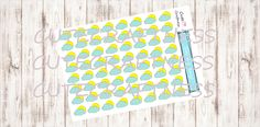 Shiny weather stickers perfect for in your planner door CuteCraftness op Etsy
