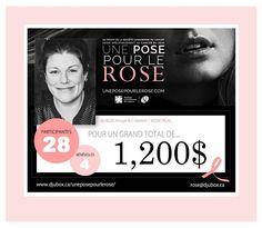 Une Pose pour le Rose 2017: le grand total final pour #djuBOX! #Fiere #FullGratitude #UnePosePourLeRose #UPPLR2017 #RubanRose #TousPourUn #Merci #LoveLoveLove