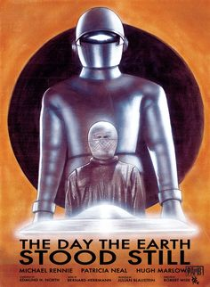 ArtStation - The Day The Earth Stood Still Paul Butcher Classic Sci Fi Movies, Classic Movie Posters, Movie Poster Art, Film Posters, Sf Movies, Iconic Movies, Mood Board Inspiration, Robert Wise, K Om