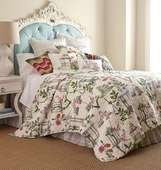 GARDEN FOLLY Full Queen QUILT SET - FRENCH COUNTRY COTTAGE FLORAL COMFORTER #FrenchCountry $178