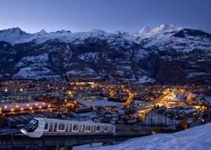 Bourg Saint Maurice -  at night