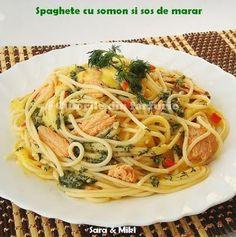 Spaghete cu somon si sos de marar, Rețetă Petitchef