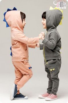 Monster Active Hoodies Set for unisex kids clothing at colormewhimsy