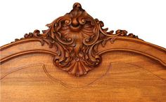 Pair Antique French Twin Beds 1900 Louis XV Style Carved Walnut Very Pretty Free Shipping