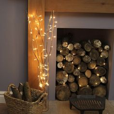 """LED Lighted Natural Willow Branches - 39"""""""