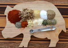 Traditional recipe for smoked pulled pork rub.  4 teaspoons salt  2 teaspoons seasoning salt  2 teaspoons brown sugar  2 teaspoons garlic powder  2 teaspoons onion powder  1/2 teaspoon paprika  1/4 teaspoon cumin  1/4 teaspoon black pepper  1/4 teaspoon cayenne pepper  1/4 teaspoon dry mustard