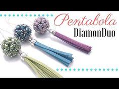 Como hacer la Pentabola con cuentas DiamonDuo - Tutorial con esquema - YouTube