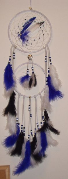 Non-traditional dreamcatchers inspired by the artist's Blackfoot ancestry.