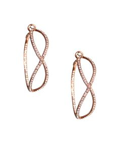 The Infinity Crystal Hoop Earrings by JewelMint.com, $46.00