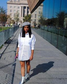 """Today's Bombshell is Brittany from Washington D.C.:  She writes, """"I'm originally from the south so my style bounces between southern belle and chic city slicker, with odd accessories to complement eac"""