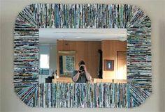 Recycled Magazine Mirror Frame – DIY Tutorial