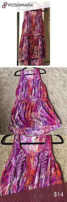 HANG TEN printed hi-lo dress Gorgeous colorful printed sleeveless dress from Hang Ten. Easy to throw on w sandals or take it out with a jean jacket. Hang Ten Dresses High Low