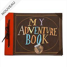 Disney Store Adventure Book Replica Journal, Up Scrapbook Cover, Vintage Scrapbook, Disney Scrapbook, Scrapbooking, Disney Store, Disney Up, Up Carl Y Ellie, Up Adventure Book, Adventure Is Out There