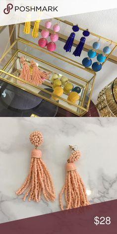 Peach tassel earrings Peach tassel earrings Jewelry Earrings