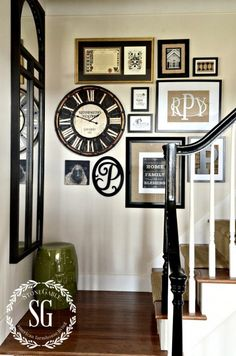 ADDING A CLOCK TO A WALL GALLERY AND A GIVEAWAY