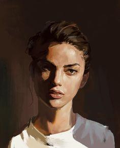 ArtStation - practise, B Beask Cool Art Drawings, Art Sketches, Figurative Kunst, Portrait Art, Oil Painting Portraits, Paintings, Pretty Art, Aesthetic Art, Magical Girl