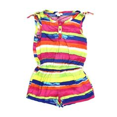 Children's Place romper, girls romper, striped romper