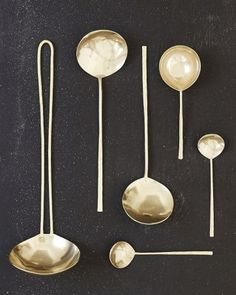 Home Decor Objects Ideas & Inspiration : Japanese Brass Spoons Kitchen Utensils, Kitchen Gadgets, Kitchen Dining, Kitchen Tools, Kitchenware, Tableware, Home And Deco, Decoration Table, Kitchen Essentials