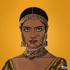 🥀 — Can I have your header image? Indian Illustration, Illustration Art Drawing, Illustrations, Indian Aesthetic, Aesthetic Art, Girl Cartoon, Cartoon Art, India Art, India India
