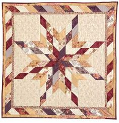 """Lone Star Wall Hanging: FREE 2 1/2"""" Strip-Pieced Quilt Pattern Adapted from a Quilt Designed by LISSA ALEXANDER Made and Machine Quilted by ..."""