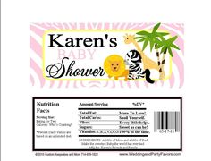 Jungle Baby Shower Candy Wrapper BABY 5521 WP