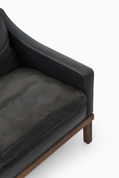 Ib Kofod-Larsen easy chairs in leather by OPE at Studio Schalling