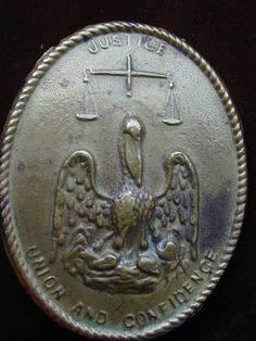 Civil War Louisiana Militia Lead-Backed Cartridge Box Plate